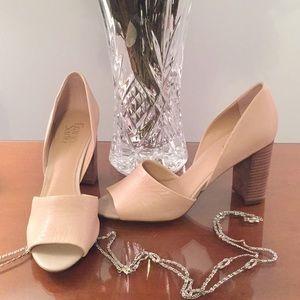 Franco sarto 🌹 Open peep toe heel pump shoe.